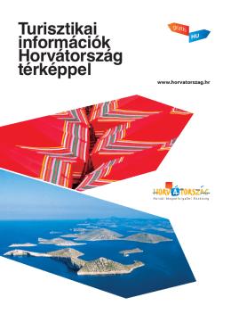Turisztikai információk Horvátország térképpel