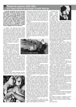 Tamara de Lempicka (1898–1980), báró Raoul Kuffner de Dioszegh