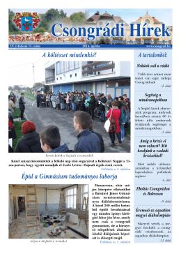 újság letöltése (PDF) - Csongrádi Városkép Nonprofit Kft.