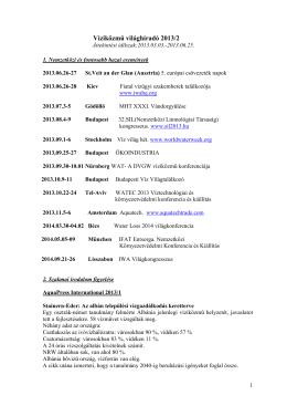 Víziközmű világhíradó 2013/2