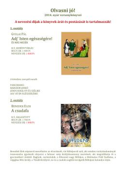 Könyvek - Olvasni jó! 2014. nyár.pdf