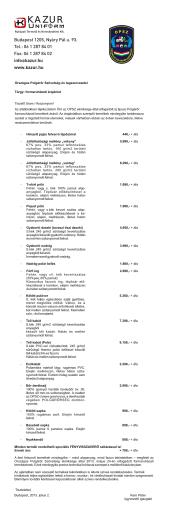 Polgárőrség, új tipusú formaruházati árak-1