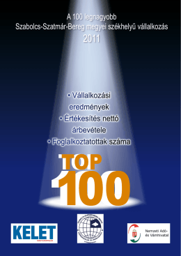 A 100 legnagyobb Szabolcs-Szatmár-Bereg