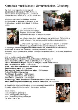 CACHEID=ded87282-5b54-4512-8fe0-520ed4569b8e;Kortedala musikklasser, Utmarksskolan, Göteborg