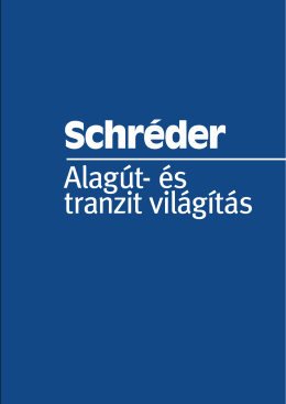 Alagút- és tranzit világítás - Tungsram