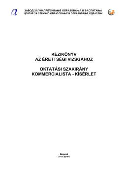 kézikönyv az érettségi vizsgához oktatási szakirány kommercialista