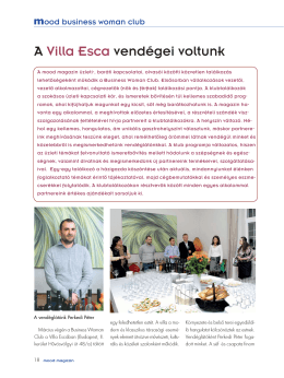 A Villa Esca vendégei voltunk - moodmagazin | business woman club