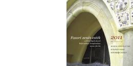 2011 pdf - Fasori zenés esték