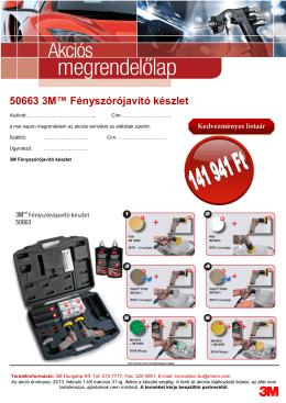 50663 3M™ Fényszórójavító készlet