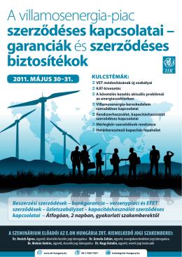 A villamosenergia-piac szerződéses kapcsolatai – garanciák és