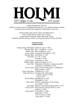 A 2014. decemberi szám tartalomjegyzéke pdf formátumban