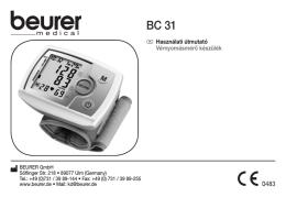 H Használati útmutató Vérnyomásmérő készülék