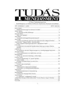 1. szám [2014. március] - PTE Felnőttképzési és Emberi Erőforrás