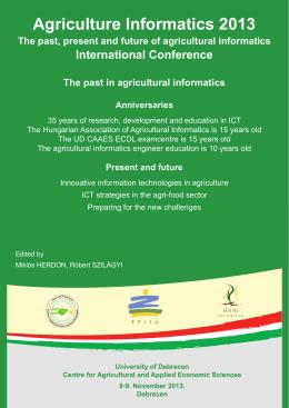 Agriculture Informatics 2013