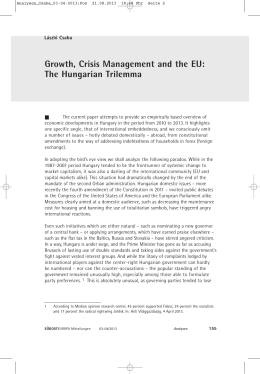 Growth, Crisis Management and the EU