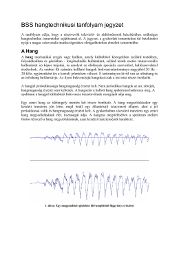 BSS hangtechnikusi tanfolyam jegyzet