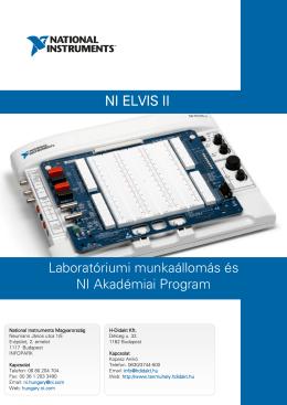 Laboratóriumi munkaállomás és NI Akadémiai Program