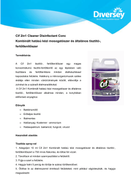 Cif 2in1 Cleaner Disinfectant Conc Hun