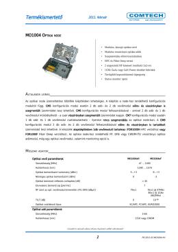MO1004 Optikai node