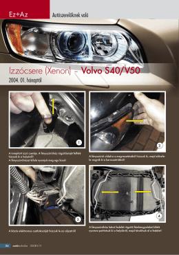 Izzócsere (Xenon) – Volvo S40/V50