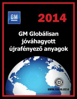 GM Globálisan jóváhagyott újrafényező anyagok