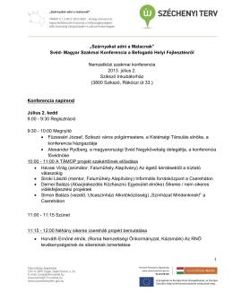 """""""Szárnyakat adni a Malacnak"""" Svéd- Magyar Szakmai Konferencia a"""