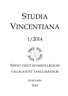 STUDIA VINCENTIANA - Szent Vince Kollégium és Szakkollégium