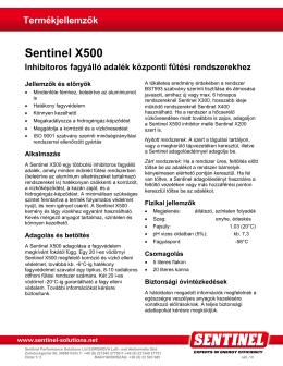 Termékleírás - Sentinel Performance Solutions