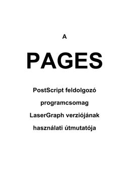 A PostScript feldolgozó programcsomag LaserGraph verziójának