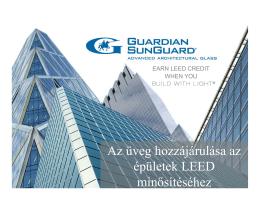Az üveg hozzájárulása az épületek LEED minősítéséhez