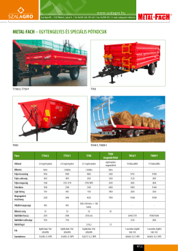 METAL-FACH– egytengelyes és speciális pótkocsik - szal-agro