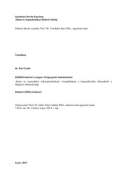 Prof. Dr. Verebélyi Imre DSc., egy - Állam