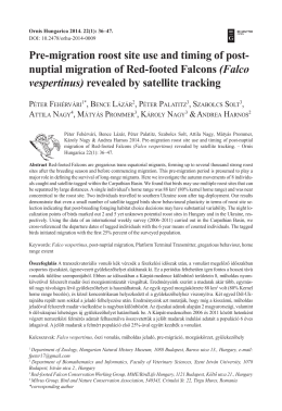 Pre-migration roost site use and timing of post
