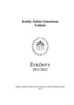 Kodály Zoltán Gimnázium Galánta