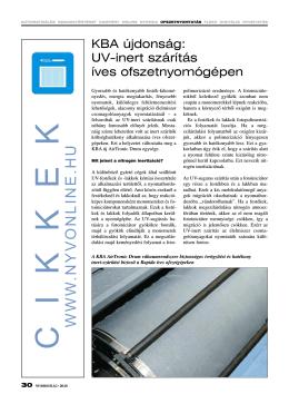 UV-inert szárítás íves ofszetnyomógépen (PDF