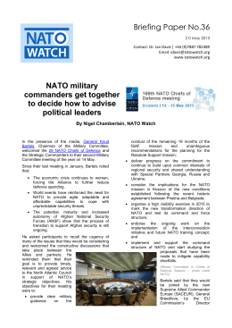 Briefing Paper No.36 NATO military commanders get