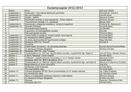 (eseménynaptár 2013-2014) - Féli Magyar Tanítási Nyelvíí Alapiskola
