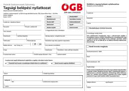 Tagsági belépési nyilatkozat - Netzwerke