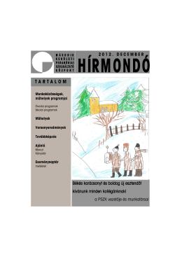 2012. decemberi szám (PDF) - Második Kerületi Pedagógiai