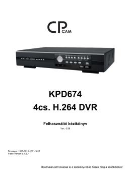 KPD - 674 digitalis képrögzítő újjabb fejlődés