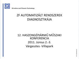 (Prtruck Kft.) - ZF automatizált rendszerek diagnosztikája