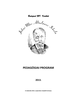 Pedagógiai program 2013
