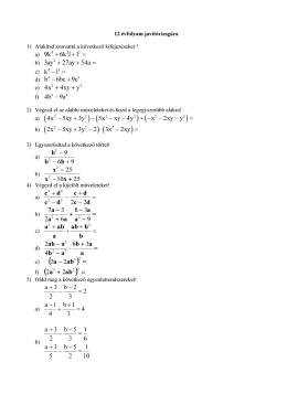 Matematika 12. évfolyam