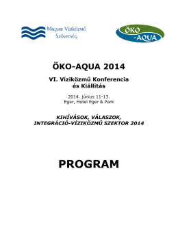 ÖKO-AQUA 2014 végleges program