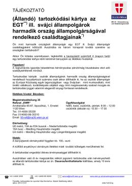 (Állandó) tartozkódási kártya az EGT ill. svájci állampolgárok