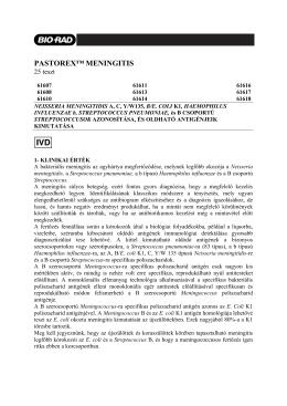 PASTOREX™ MENINGITIS - Bio-Rad