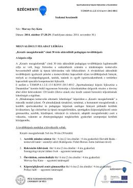 Szakmai beszámoló - Pécsi Tudományegyetem