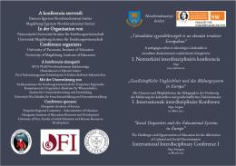 Konferenciaprogram, 2013. március 22.