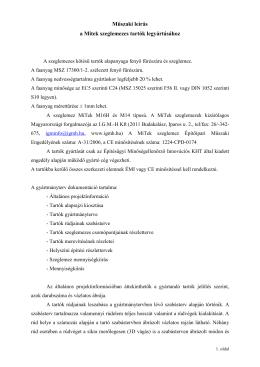 Általános műszaki leírás MiTek szeglemezes tartók - IGM-H