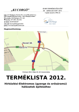 Termeklista,pdf - Kucorgó Kft. bemutatása